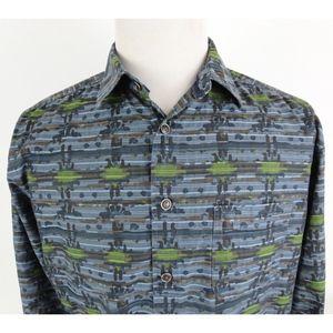 Territory Ahead Medium Shirt Button Up Splatter